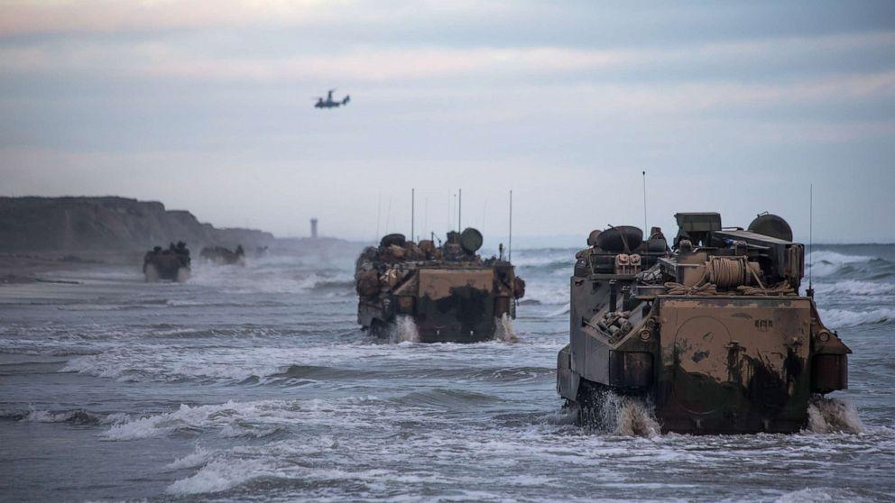 7 marines, 1 sailor aboard rapidly sinking AAV presumed